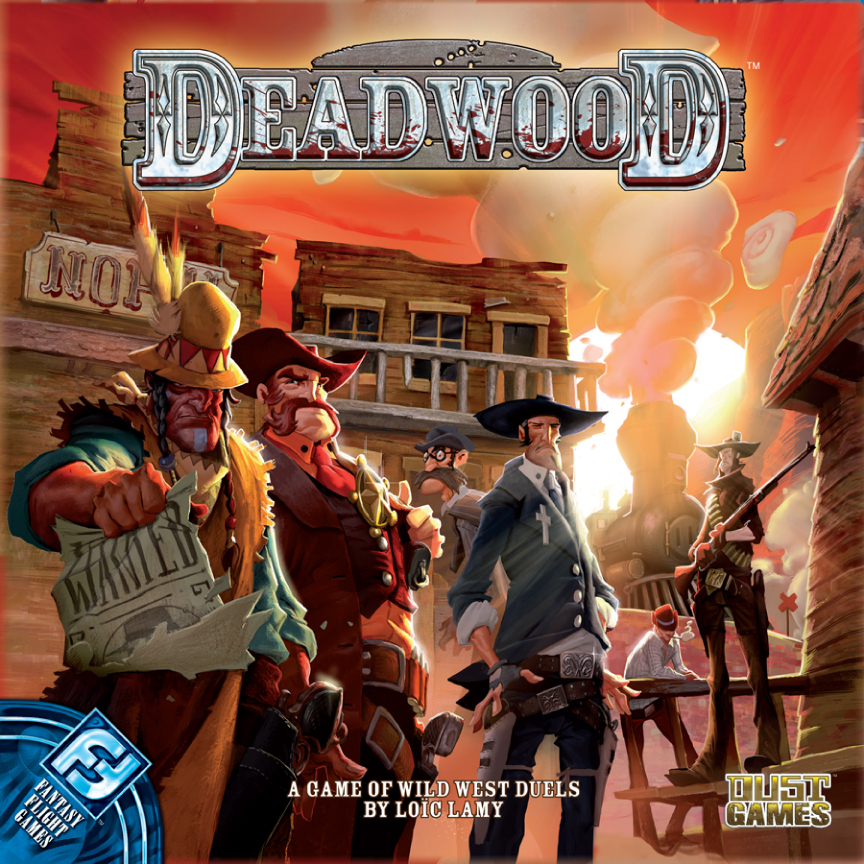 Deadwood boardgame dust games usa import fantasy flight games